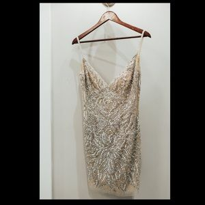 Jovani beaded shirt wedding dress